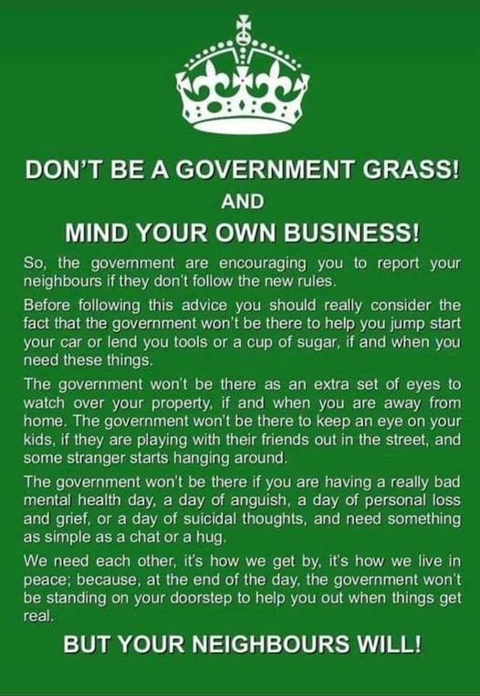 Don't Be A Government Grass