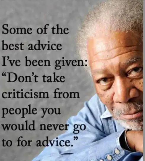 Don't Take Criticismg