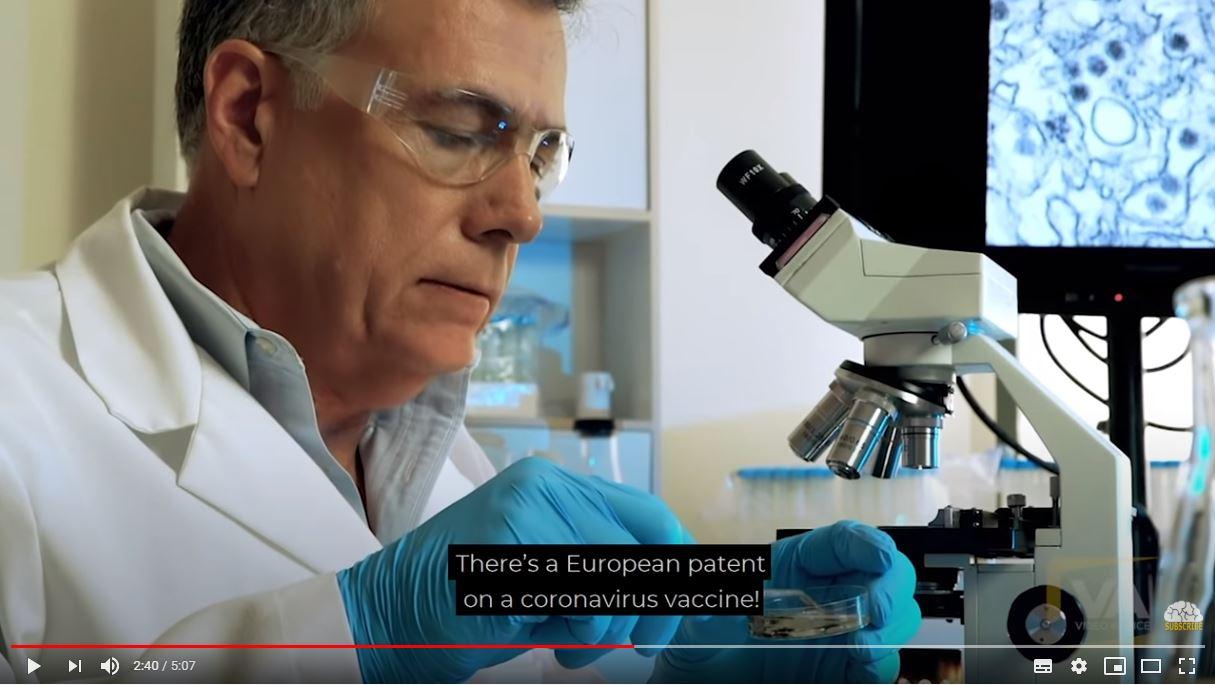 European Patent On Coronavirus Vaccine