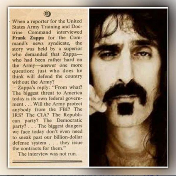 Frank Zappa Army Interview