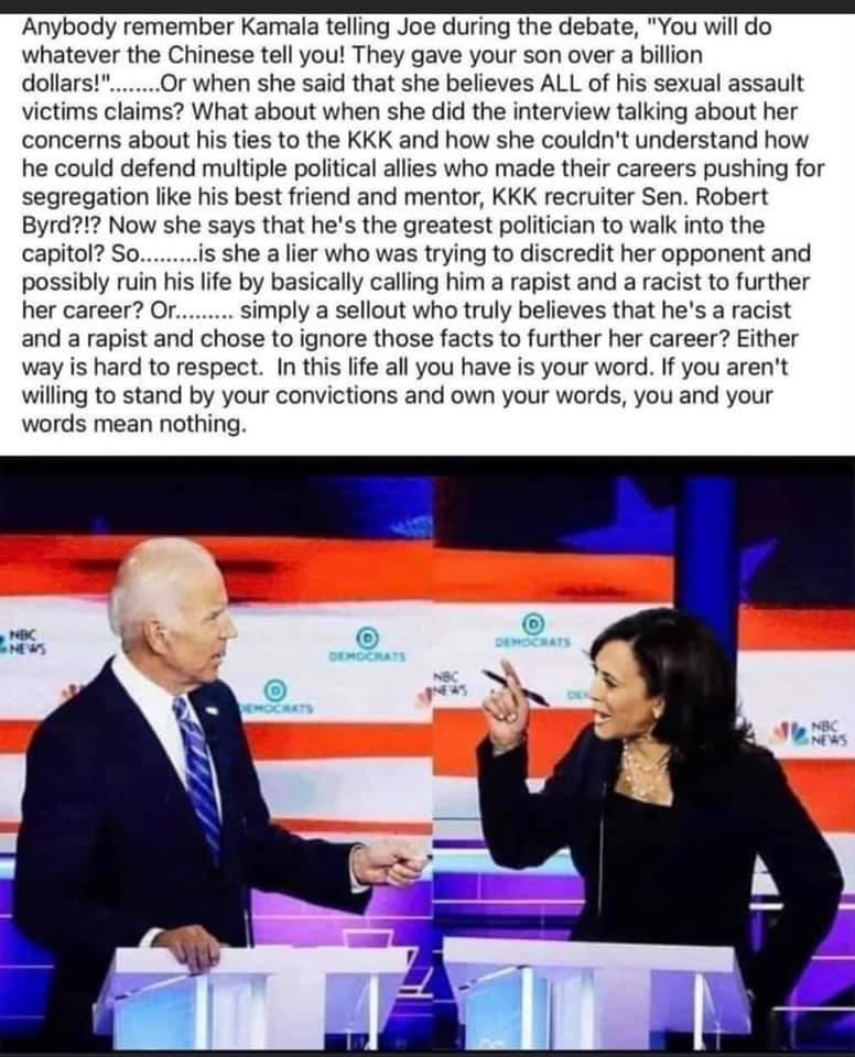 Harris To Biden