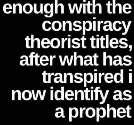 I Identify As A Prophet