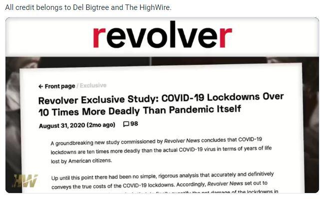 Lockdown Ten Times More Deadly Than COVID