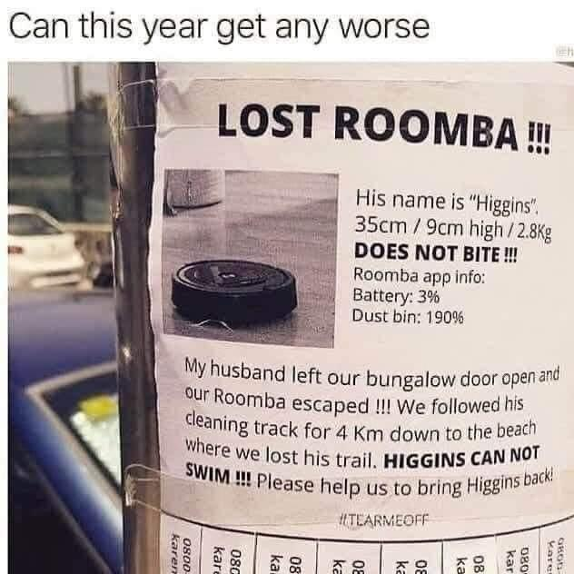 Lost Roomba