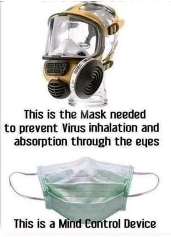 Mask Versus Mind Control Device