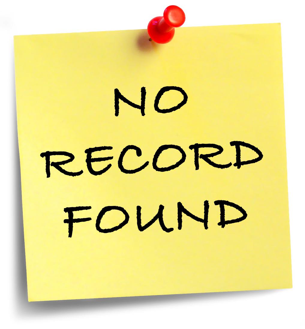 No Record Found