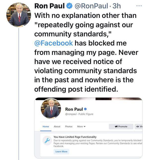 Ron Paul FB Blocked