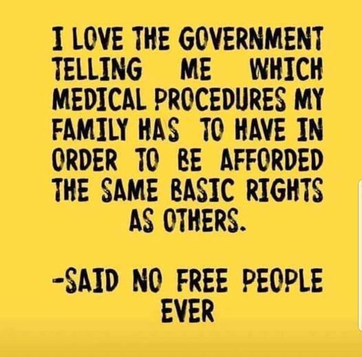 Said No Free People Ever