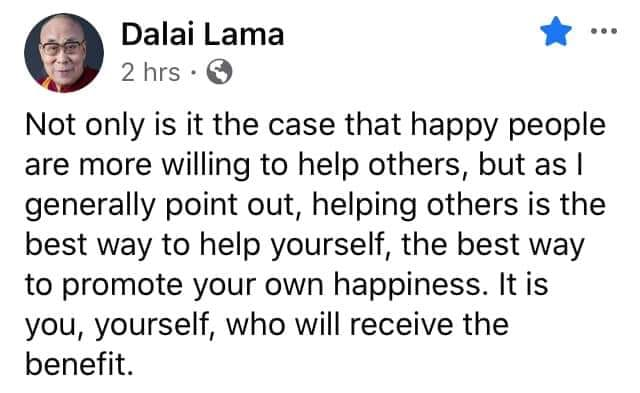 The Dalai Lama On Helping And Happiness