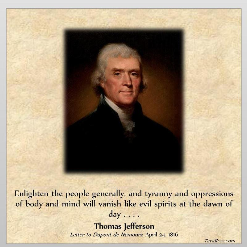 Thomas Jefferson On Enlightenment