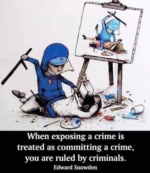 When Exposing A Crime...