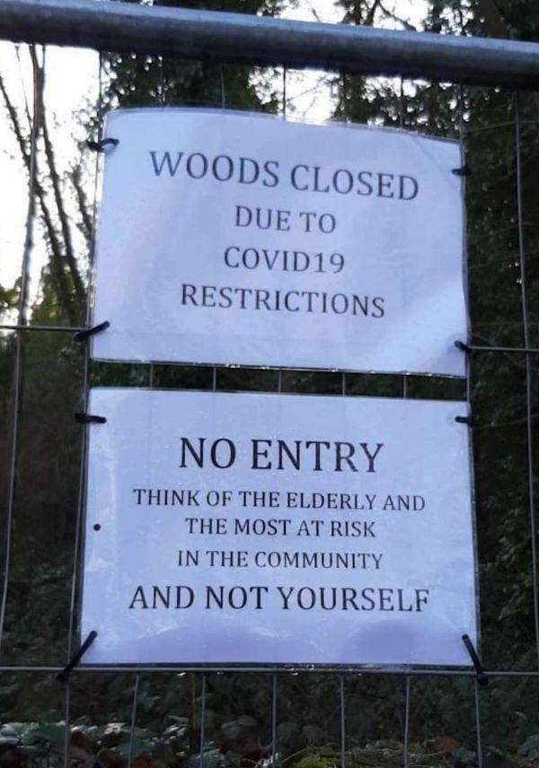 Woods Closed