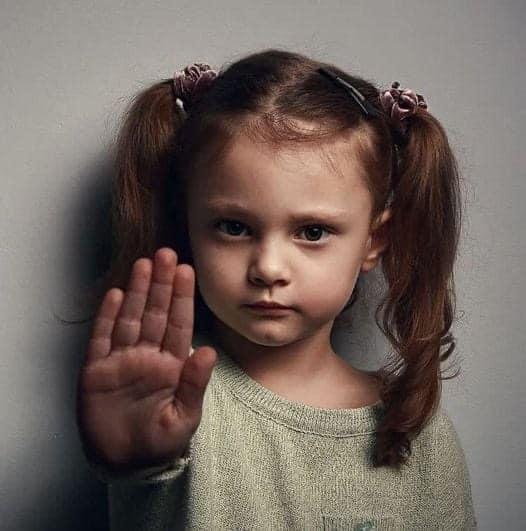 Young Girl Saying No